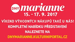 Dny Marianne 15.9. až 17.9.2017 - vybraná představení se slevou