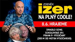 Zdeněk Izer na plný coole 8.6.2020 v Divadle Gong Praha
