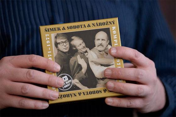 Křest kompletu 10CD Šimek-Sobota-Nárožný (1971-77). Autor: ČTK, Michal Doležal