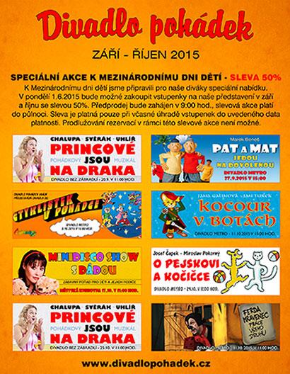Program Divadla pohádek v září a říjnu 2015
