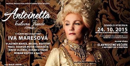 Společnost Musical Production vás zve na slavnostní večeři s královnou Antoinettou a králem Ludvíkem