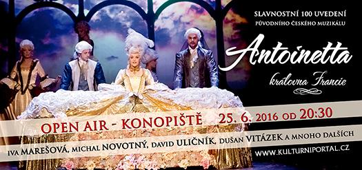 Antoinetta-královna Francie 25.6.2016 v přírodním divadle Konopiště