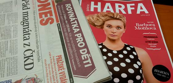 MF Dnes 13.5.2016 s přílohou Galerie Harfa