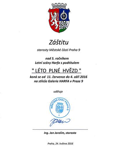 Záštita starosty Prahy 9