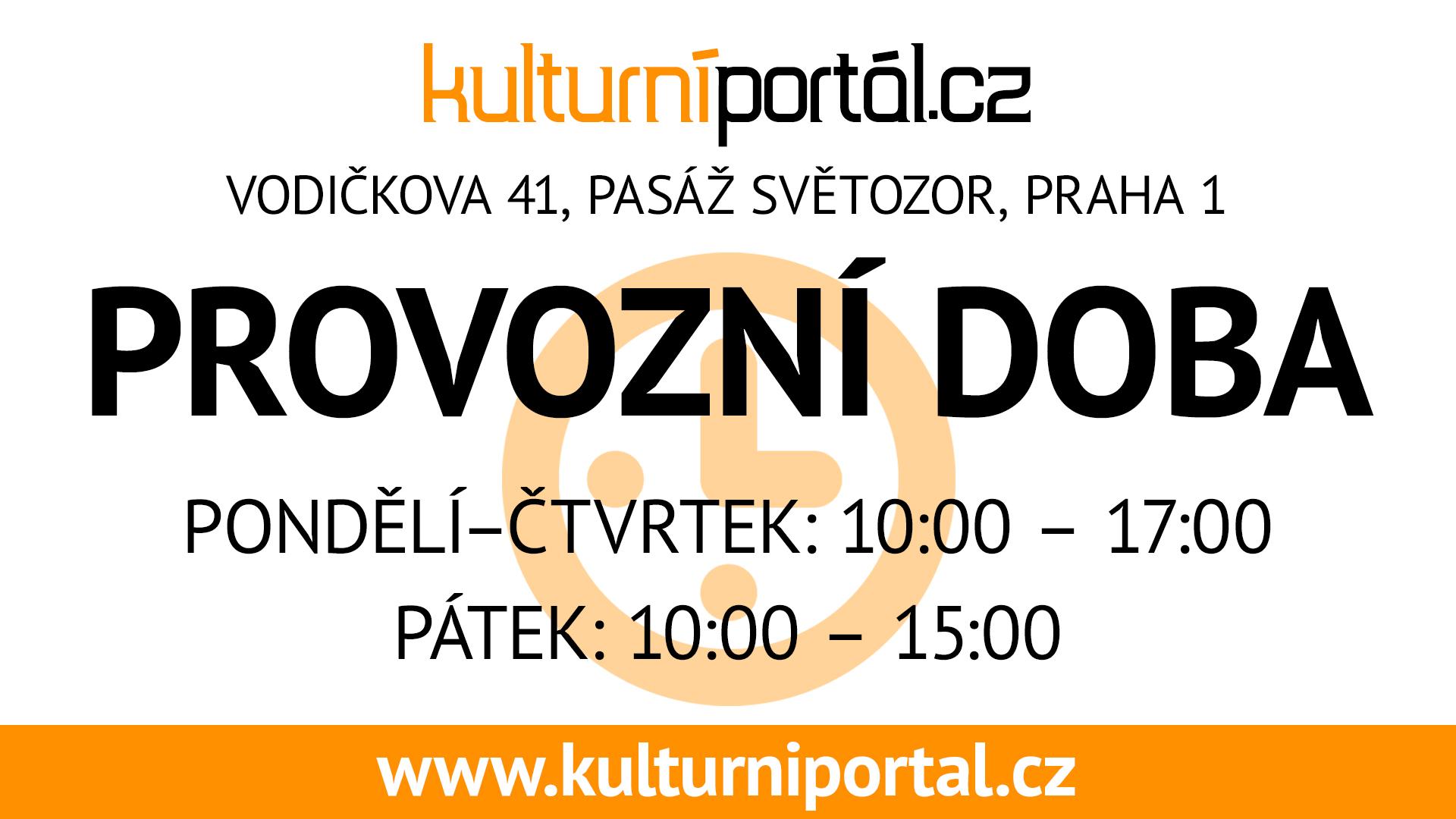 Provozní doba pondělí - čtvrtek 10:00 - 17:00, pátek 10:00 -15:00