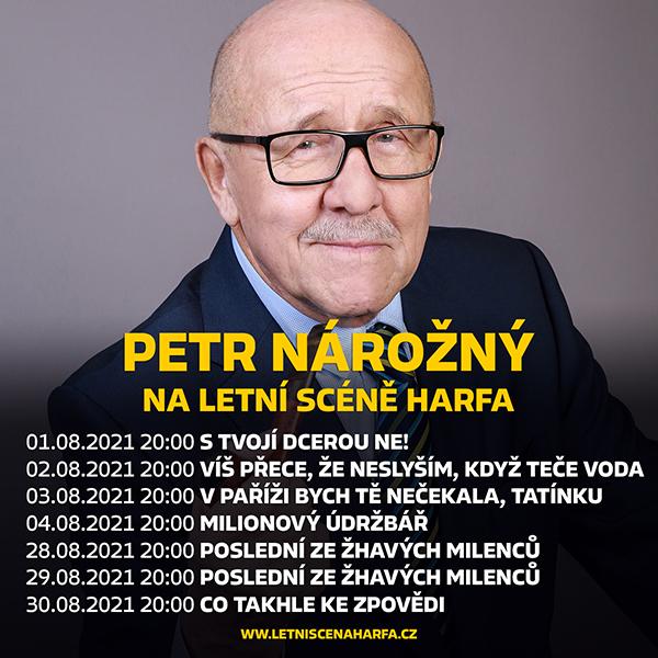 Petr Nárožný na Letní scéně Harfa