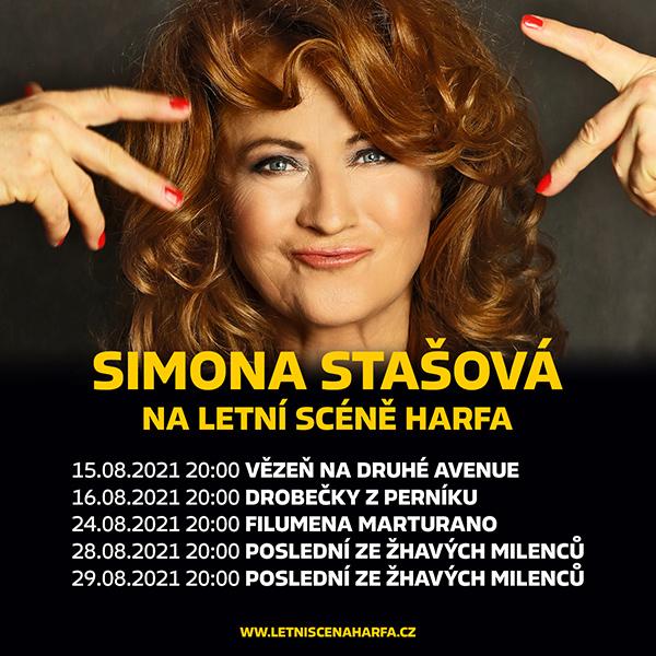Simona Stašová na Letní scéně Harfa