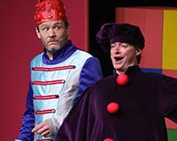 Rostislav Trtík a Kryštof Nohýnek v představení Princové jsou na draka. Foto: Petr Sankot