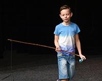 Fabián Šetlík v představení Princové jsou na draka. Foto: Petr Sankot