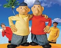 Plakát k představení Pat a Mat jedou na dovolenou