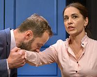 Lukáš Langmajer a Michaela Kuklová v komedii Příště ho zabiju sám! Foto: Petr Sankot