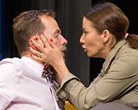 Lukáš Langmajer a Eva Decastelo v komedii Příště ho zabiju sám! Foto: Petr Sankot