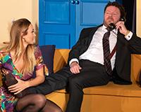 Barbora Mottlová a Leoš Noha v komedii Příště ho zabiju sám! Foto: Petr Sankot