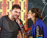 Zbigniew Kalina a Veronika Čermák Macková v představení Normální debil. Foto: Petr Sankot